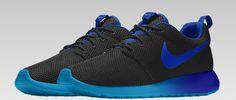 Custom Nike roshe from Nike.ca blue black navy blue