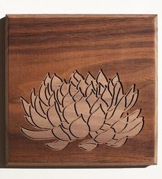 Echeveria Wood Art #2 | Art Pieces | Dave Marcoullier | Scoutmob Shoppe | Product Detail