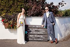 #woodenpallette #wedding #signage #slate Ciaran and Louise's perfectly pastel Borris House wedding by Katie Kav | www.onefabday.com