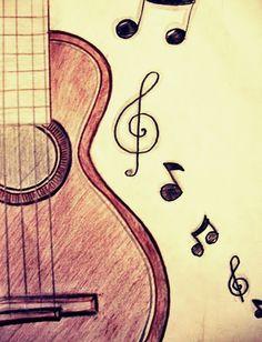 Resultado de imagen para dibujo de guitarra a lapiz drawing in 2019 рисунки, как рисовать Art Drawings Sketches Simple, Girly Drawings, Music Drawings, Pencil Art Drawings, Cool Drawings Tumblr, Pencil Drawing Tutorials, Colorful Drawings, Music Doodle, Guitar Doodle