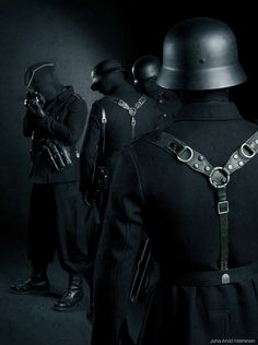 "Juha Arvid Helminen, Finnish photographer, exhibits a Nazi-esque ""Invisible Empire"" Mugiwara No Luffy, Creepy Art, Military Fashion, Military Outfits, Military Clothing, Military Art, Dark Fantasy Art, Dieselpunk, Costumes"