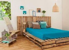 25 idee creative per il vostro letto realizzato con i pallet - Falegnameria'900