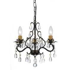 Shop for Crystorama Paris Flea Market Collection 3-light English Bronze Mini Chandelier. Get free shipping at Overstock.com - Your Online Home Decor Outlet Store! Get 5% in rewards with Club O! - 15480810