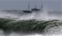 24 hours: Jeju Island, South Korea: A Chinese fishing boat navigates in rough waves