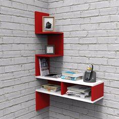 Home Decor Shelves, Wall Shelf Decor, Home Decor Furniture, Home Decor Bedroom, Room Decor, Home Library Design, Home Room Design, Bookshelf Design, Wall Shelves Design