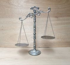 Scales of Justice w/ Movable Pans Vintage by TREASUREandSUCH