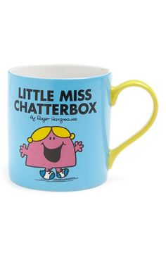 Free shipping and returns on WILD AND WOLF Wild & Wolf 'Little Miss Chatterbox' Mug at Nordstrom.com. A colorful character from Roger Hargreaves' timeless Mr. Men collection enlivens a stoneware mug that serves up a dose of nostalgia along with your morning joe.