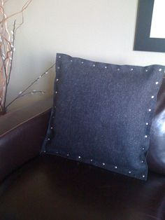 Super cool wool felt pillow!
