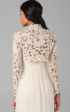 Look Fashion, Girl Fashion, Fashion Outfits, Womens Fashion, Blouse Styles, Blouse Designs, Dinner Gowns, Lace Outfit, Lace Jacket
