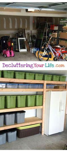 Organizing clutter in the garage - DIY garage organization ideas #organizingclutter #Clutter #garageorganization