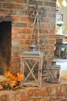 Fall mantel and decor ideas.
