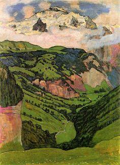 elpasha71:  Ferdinand Hodler, The Jungfrau from Isenfluh, 1902