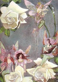 ≍ Nature's Fairy Nymphs ≍ magical elves, sprites, pixies and winged woodland faeries - Rose Fairies