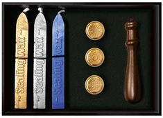 Spiritual Sealing Wax Kit, use this kit to customize invitations, greeting cards, spells, rituals, and more with enchanting wax stamps.  www.ancient-wisdoms.com