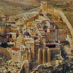 Mar Saba Monastery overlooking the Kidron Valley Jerusalem Israel #HeathrowGatwickCars   heathrowgatwickcars.com via Instagram http://ift.tt/2ayUApq