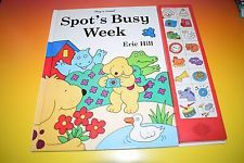 Spots Busy Week Play-a-Sound button book Electronic Eric Hill Spot The Dog