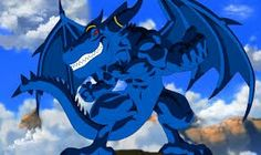 Title: Blue Dragon Character: Blue Dragon Type: Anime/Game Line Art and painting by me. Anime Fantasy, Fantasy Art, Game Character, Character Design, Dragon Poses, Dragon Hunters, Dragon Ball Image, Pokemon, Furry Pics