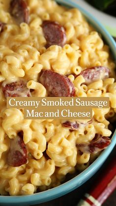 Easy Weeknight Meals, Easy Meals, Cheap Meals, One Pot Meals, Smoked Sausage Recipes, Creamy Pasta Dishes, Supper Recipes, Lunch Recipes, Yummy Recipes