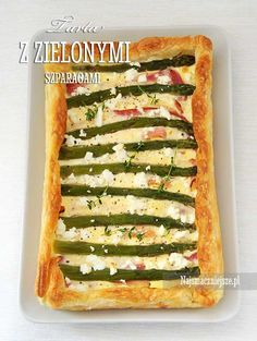 Tarta z boczkiem z szparagami Feta, Zucchini, Vegetables, Recipes, Pies, Recipies, Vegetable Recipes, Ripped Recipes, Cooking Recipes