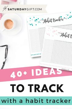 Want to get more ideas for you daily habit tracker? Check out the post with over 40 things you can choose from to track plus a cute printable habit tracker Planner Tips, Planner Pages, Life Planner, Printable Planner, Free Printables, Tracker Free, Silhouette Cameo Tutorials, Learn Calligraphy, Planner Organization