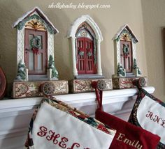 I want to share with you my homemade stocking holders.               I made these last year and just loved how they turned out. I didn'...