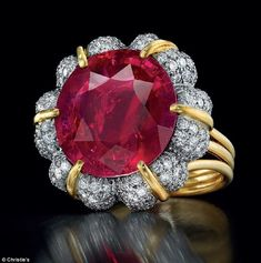 Exquisite: The ruby is the most important Burmese ruby to go up for auction in the United States for more than 25 years