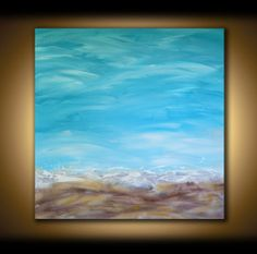LARGE CANVAS ART Painting Ocean Art Seascape by ModernArtsStudio, $400.00