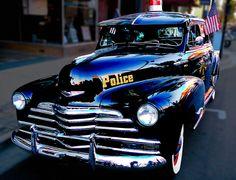 Vintage police car - beautiful!