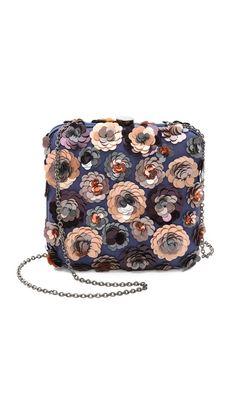 Floral Sequin Clutch