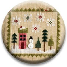 Country Yarns Item Details Name Snowman, Lizzie Kate, Needle Minders, Yarns, Needlepoint, Needlework, Tapestry, Stitch, Country