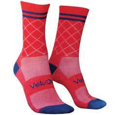 CX Red Cycling Socks