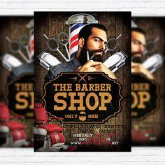 Barber Shop - Premium Flyer Template + Facebook Cover http://exclusiveflyer.net/product/barber-shop-premium-flyer-template-facebook-cover/