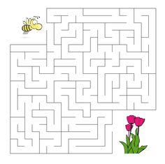 De bij zoekt de bloem Word Puzzles For Kids, Mazes For Kids, Worksheets For Kids, Craft Activities For Kids, Book Activities, Art For Kids, Kindergarten Math Worksheets, Preschool Education, Kindergarten Reading