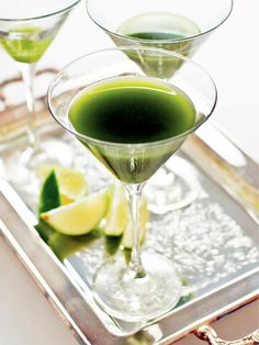DIY Matcha Green Tea Gimlet >> http://blog.diynetwork.com/maderemade/2014/03/07/7-lucky-things-you-should-turn-green-for-st-patricks-day/?soc=pinterest