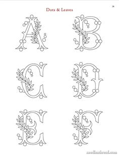 Paper Embroidery Patterns Image of Favorite Monograms - A collection of 16 complete monogram alphabets perfect for hand embroidery and other crafts. Each letter has been carefully traced into clean line. Hand Embroidery Patterns Free, Embroidery Alphabet, Embroidery Stitches Tutorial, Hand Work Embroidery, Embroidery Flowers Pattern, Embroidery Monogram, Simple Embroidery, Paper Embroidery, Embroidery Transfers