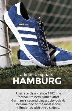 Hamburg in the news, footie fans wearing adidas - never!