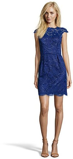 Shoshanna Dresses On Sale Shoshanna cosmic blue lace