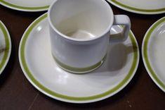 Vintage Spring Collection Stoneware Spring Garland Set of 10 Cups Only Orange Yellow Green Retro Kitchen Japan Panchosporch