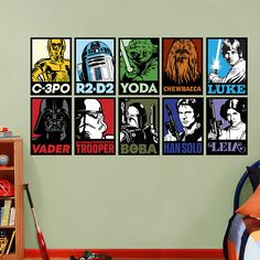 Star Wars Portraits Collection Fathead Wall Decal