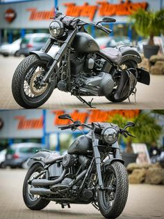 Softail Slim ALL BLACK customized by Thunderbike