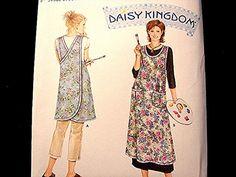 Simplicity Womens Wrap Apron Pattern UNCUT all sizes Artist Smock , Gardening Apron