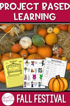 Project-based learning: plan an autumn festival Use this over math and STEM resource for your or grade high school or home school s 21st Century Learning, 21st Century Skills, Autumn Activities, Creative Activities, Math Stem, Fall Projects, Project Based Learning, Teacher Hacks, Upper Elementary