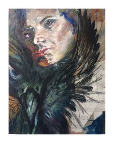The sound of silence... #portrait #autoretrato mixed technique painting #segundoanopana2016 #angelizherholz