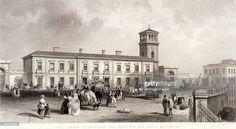 London Bridge Station, Bermondsey, London, 1845. View of the London Terminus of…