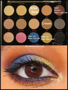 Blue and Gold Makeup Look Ft. Urban Decay Gwen Stefani Eyeshadow Palette
