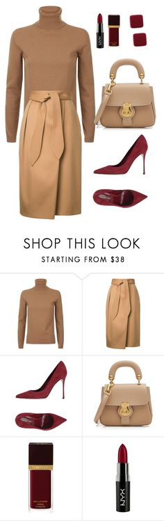 """Untitled #42"" by yulia-mesnyankina on Polyvore featuring MaxMara, Estnation, Sergio Rossi, Burberry, Tom Ford and NYX"