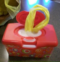 Diaper Wipe Container - for shopping bags? Sure!