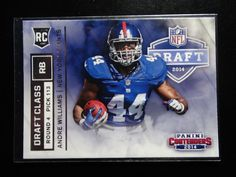 2014 Panini Contenders Draft Class #RDA 20 Andre Williams New York Giants Card  #NewYorkGiants