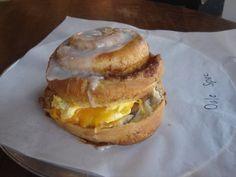 Cinnamon Roll Breakfast Sandwich