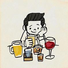 #多様性 #お酒 #イラスト #procreate